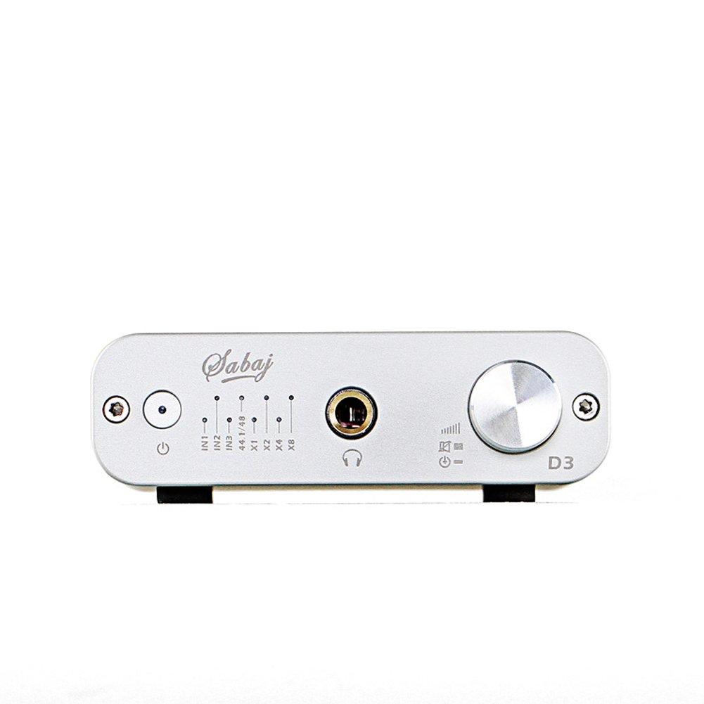 Sabaj D3/DAC e amplificatore per cuffie audio con ingresso USB coassiale ottico/ /argento