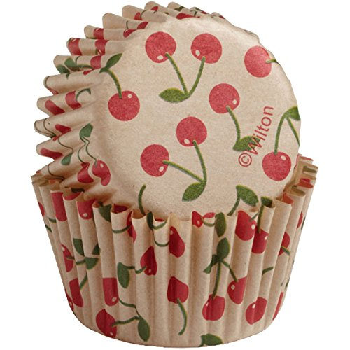 Cherry Cup - Wilton Baking Cups, Mini, 100-Count, Unbleached Cherry