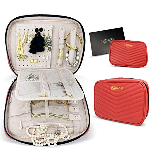 AlgorithmBags Jewelry Organizer Holder Travel Case for Earring Necklace Bracelet Ring Watch