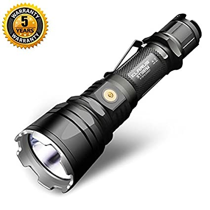 Klarus XT12GT CREE XHP35 HI D4 LED 1600 Lumens Rechargeable Tactical Flashlight with18650 battery