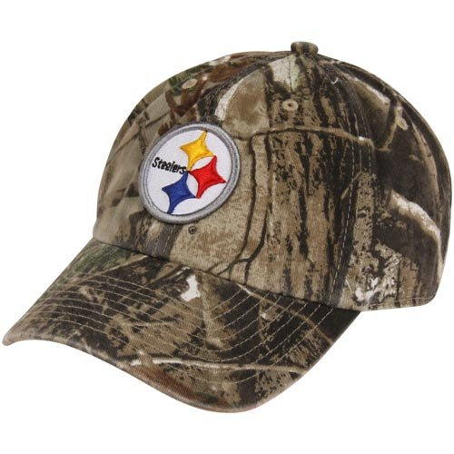 30c9f3c3968f59 Image Unavailable. Image not available for. Color: NFL '47 Brand Pittsburgh  Steelers Clean Up Adjustable Hat - Realtree Camo -