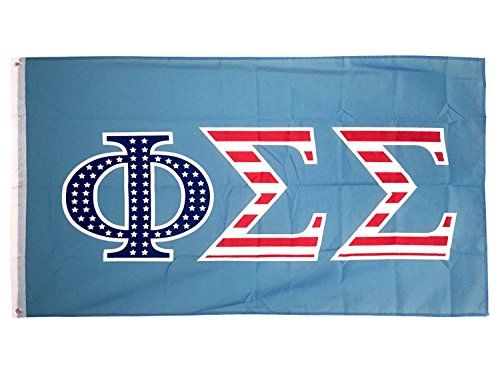 Phi Sigma Sigma USA Letter Sorority Flag Greek Letter Use as a Banner Large 3 x 5 Feet Sign Decor Phi Sig Review