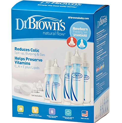 Set Dr. Brown 5 Bottles 7 Nipples BPA Phtalate & Lead Free Internal Vent's 3 New!!! ()
