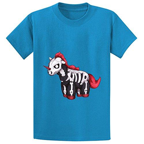 mcol-evil-unicorn-child-crew-neck-print-t-shirt-blue