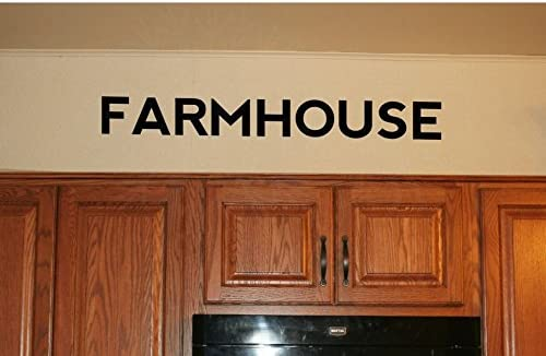 Amazon Com Farmhouse Wall Decals Farm Decor Vinyl Lettering Wall Art Stickers Black Home Kitchen