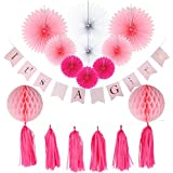Baby Shower Decorations for Girl, It's A Girl Banner...