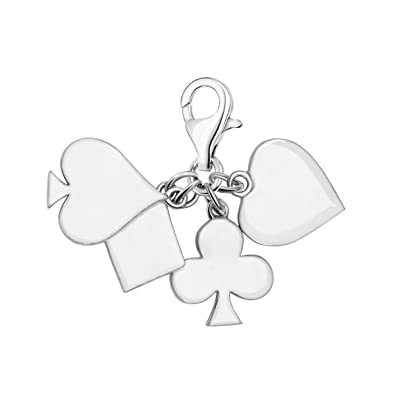 Quiges 925 Sterling Silver Enamel 3D Angel Clip On Lobster Clasp Charm Pendant