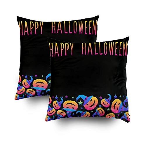 Art Pillow Case,Abstract rainbow happy halloween card background Modern pattern for halloween card party invitation wallpaper holiday shop sale bag print t shirt workshop advertising etcCapsceoll 16x1]()