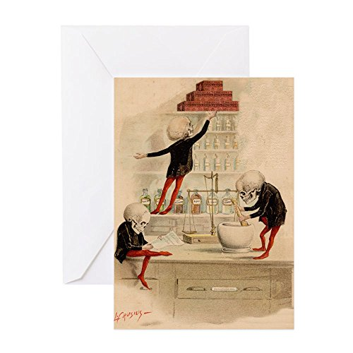CafePress - Pas De Substitution - Greeting Card (10-pack), Note Card with Blank Inside, Birthday Card Glossy
