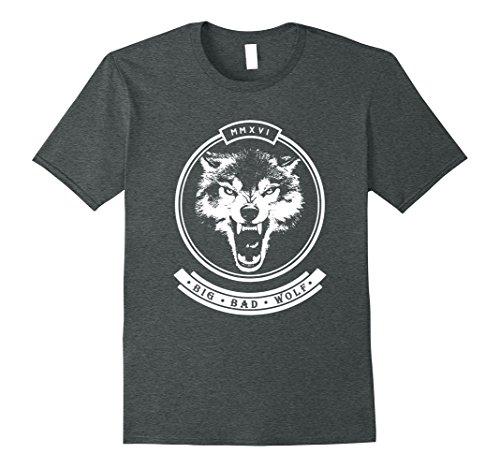 Mens 2016 Big, Bad, Wolf Graphic T Shirt XL Dark Heather