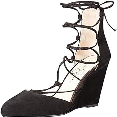 J. Adams Lace Up Low Wedge Shoe