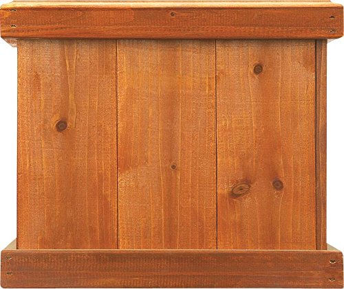 (Pennington Décor 100045150 Square Planter Box Heartwood 12inx14.125x14.125, 14