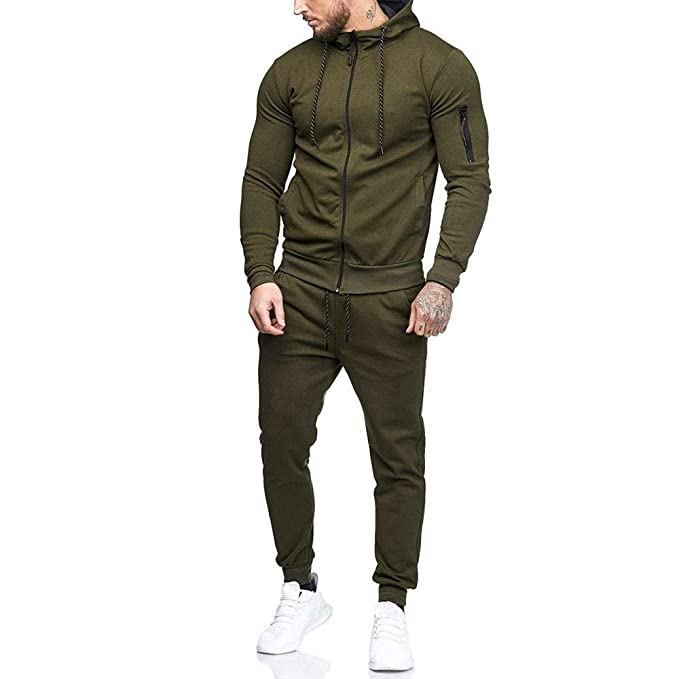 Amazon.com: Easytoy Mens Autumn Winter Camouflage Sweatshirt Top Pants Sets Sports Suit Tracksuit: Clothing