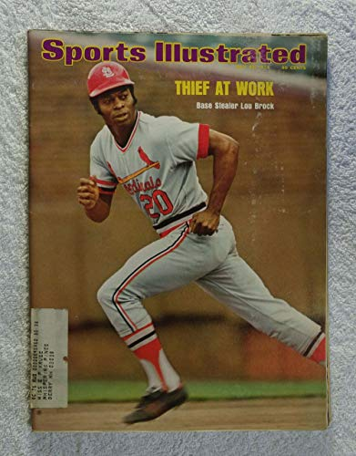 Thief at Work - Base Stealer Lou Brock - St Louis Cardinals - Sports Illustrated - July 22, 1974 - Stolen Bases - SI