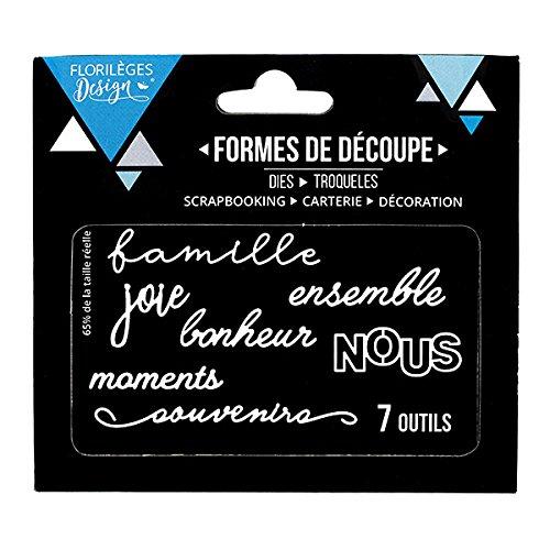 Florilèges Design FDD11702 Outils de découpe Nous Métal Gris 11,5 x 12,5 x 0,2 cm
