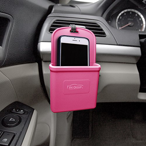 INK Baby Pink Silicone Car Vent Mounted Phone Holder (Smartphone works with IPhone Plus Galaxy Note Baby Pink Color) ()