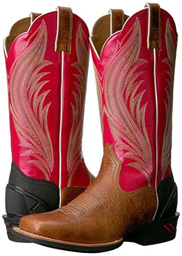 Coral Et Ariat calypso Bottes Gingersnap Cowboy Bottines Femme Un0wv