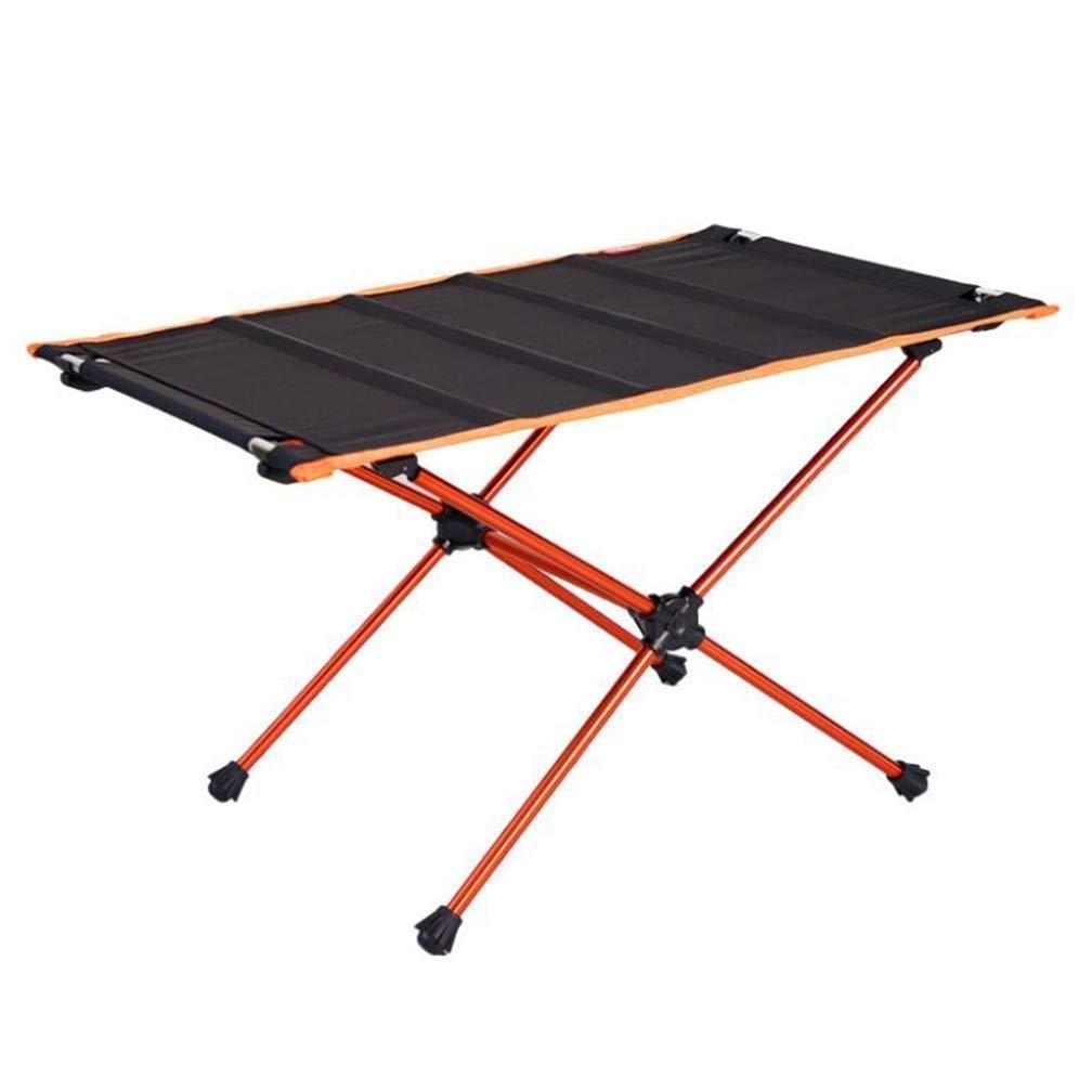 Outdoor Folding Picnic Table Aluminum Alloy Multi-Function Portable Restaurant Camping Barbecue Garden Terrace Self-Driving Tour Hiking Beach Yard Home Leisure Lightweight Sturdy Durable Black