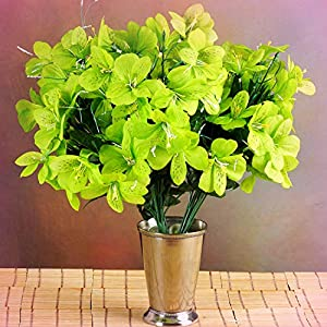 Inna-Wholesale Art Crafts New 6 Lime Green Bushes Silk Mini PRIMROSES Decorating Flowers Bouquets Decorations - Perfect for Any Wedding, Special Occasion or Home Office D?cor 115