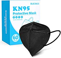 KN95 Face Mask 60 Pack, BLScode Individually Wrapped 5-Layer Breathable Cup Dust Mask with Comfortable Elastic Ear Loops,...