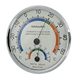 uxcell Indoor Outdoor Thermometer Hygrometer Mini Pointer Temp Wet Thermo-Hygrograph