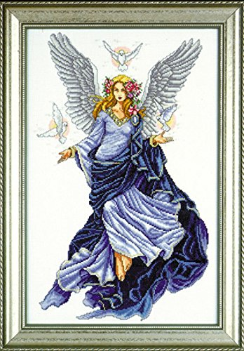 Design Works - Celestial Angel - Counted Cross Stitch Kit 2347 with Gift Card, 12 by 18-inches
