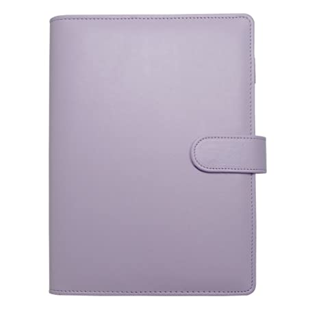 image regarding A5 Planner Binder identify A5 Planner,A5 6-Ring Binder,Spiral Laptop computer Particular person Organizer with Magnetic Button Harphia (Lavender, A5 9.06 x 7.28)