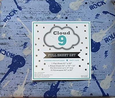 Cloud 9 4-Piece FULL Sheet Set, Guitars and Rock & Roll