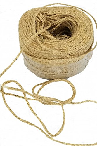 3 Hemp Ply (Jute Twine String Rope. Arts Crafts Supply. 3 Ply Heavy Duty. Hemp Material. 700 Feet ( 2 rolls ))