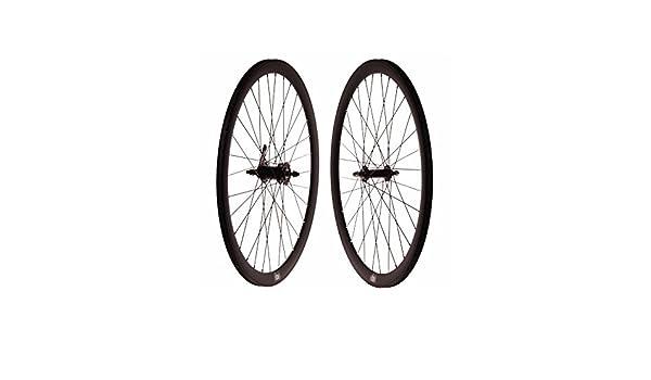 Set ruedas fixie contrapedal negro mate: Amazon.es: Deportes y aire libre