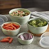 KitchenAid Prep Bowls with Lids, Set of 4, Pistachio