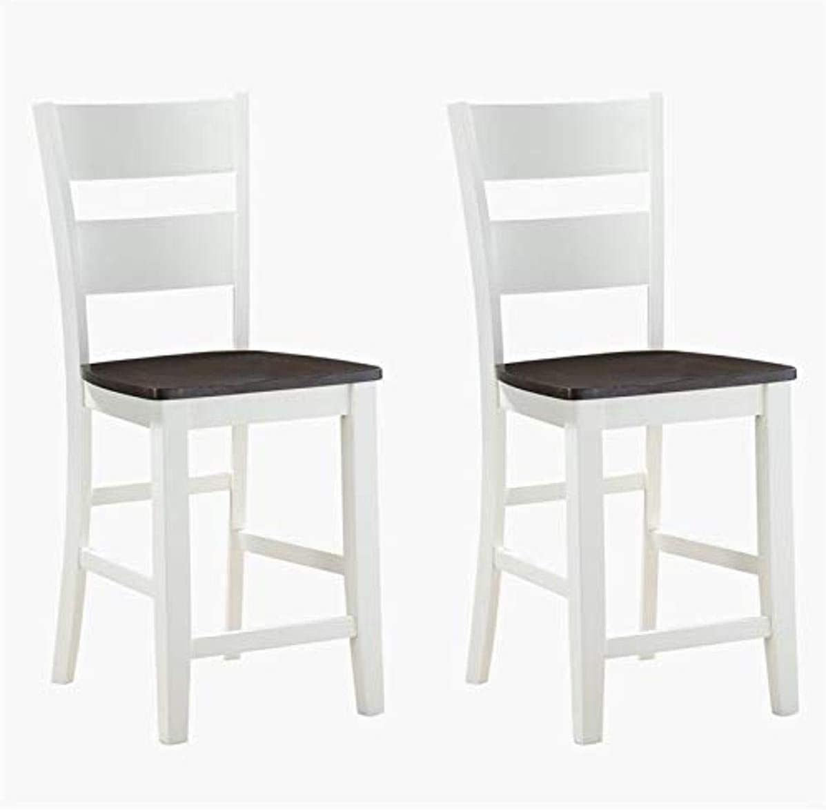 Wallace Bay Mccarty 24 Bar Stool With Solid Wood Seats Set Of Two Furniture Decor