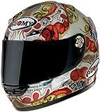Suomy Vandal Actuality Helmet (Silver/Gold/Red, Medium)