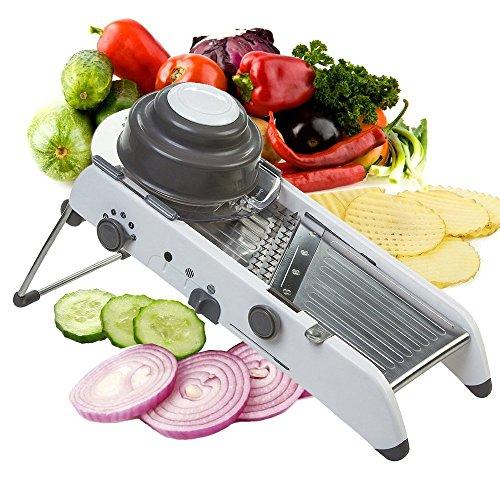 Mandolin Vegetable Slicer, Multi Blade Adjustable Mandoline Slicer and Vegetable Julienner with Precise Maximum Adjustability, Vegetable Food Cutter Fruit Slicer Grater Chopper