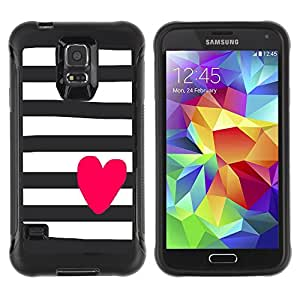 Jordan Colourful Shop@ Heart Pink Valentines Sailor Stripes Grey Rugged hybrid Protection Impact Case Cover For S5 Case , G9006 Cover Case ,Leather for S5 ,S5 Cover Leather Case ,G9006 Leather Case