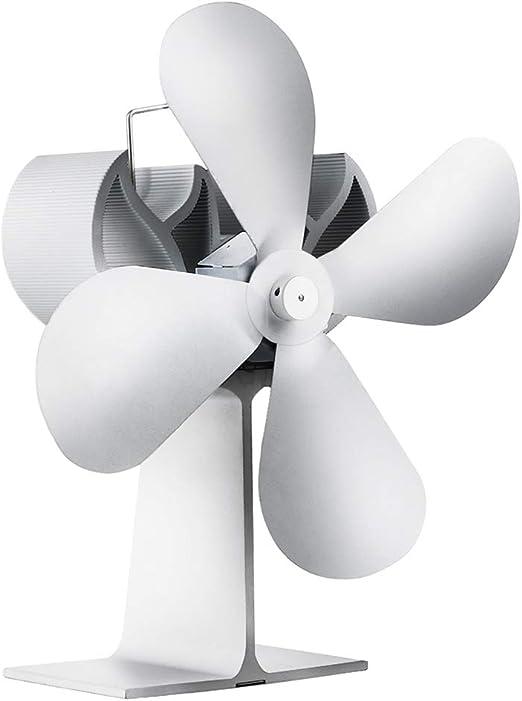 El Ventilador de la Estufa de 4 Palas Alimentado por Calor circula Caliente - Ventilador accionado por Calor ...