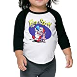 Toddler 3/4 Sleeve The Ren & Stimpy Show Animated Television Raglan Shirts Funny Baseball Jerseys