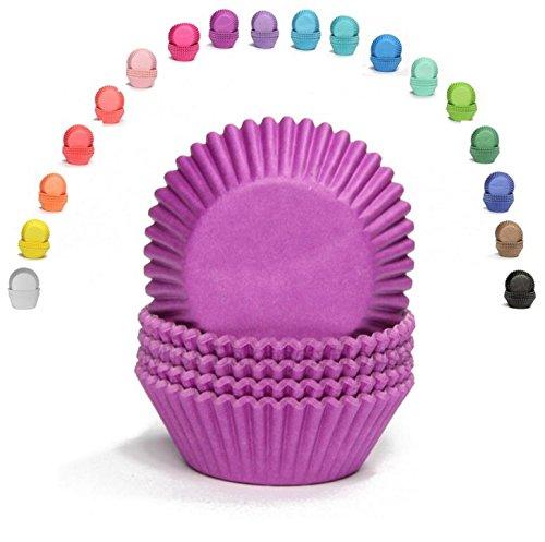 Miss Bakerys House/® 75 piezas Moldes para magdalenas lila est/ándar papel /Ø 50 mm x 30 mm