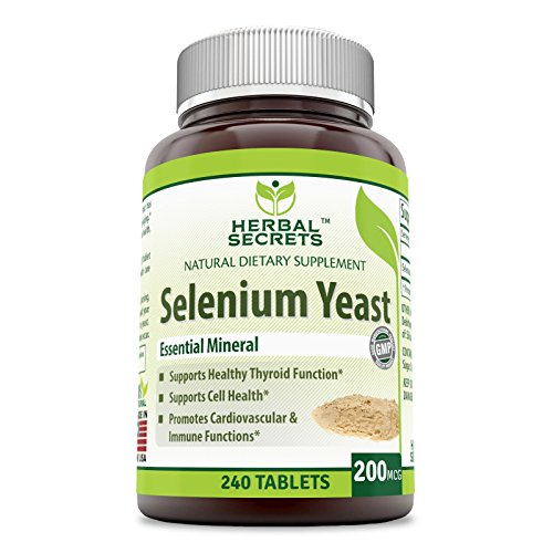 Yeast Selenium (Herbal Secrets Selenium Yeast 240 tablets 200 Mcg)