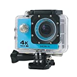 Boblov AT-30 Full HD 4K@30fps 1080P@60fps 173 Degree Wide Angle 16MP WiFi Sports Action Camera DVR (Blue)