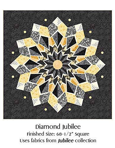 Benartex Diamond Jubilee Quilt Kit by Amanda Murphy Pre-Cut with Patterns 68.5