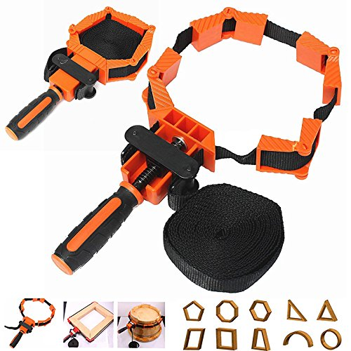 LIPOVOLT Picture Frame Woodworking Band Strap Clamp Ratchet Corner Miter Mitre Vise Tool ()