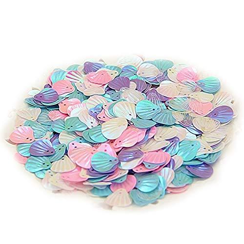 Magik 15~100 Pc Slime Bread Candy Flatbacks Resin Flat Back Scrapbooking Charms DIY (Mermaid Shell, 10g)