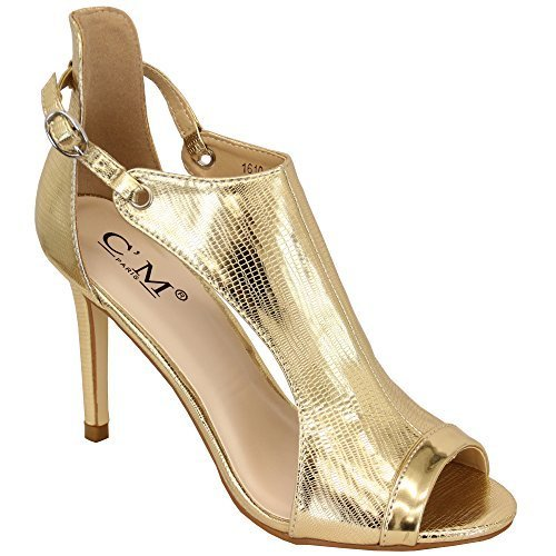 Ladies' CM Paris Sandal 1610224 Gold UK 7/US 9 (Gold Paris Sandals)
