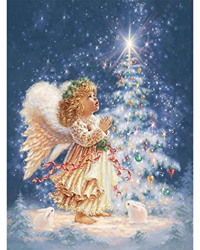 Christmas Paintings - Blxecky 5D DIY Diamond Painting ,By Number Kits Crafts & Sewing Cross Stitch,Wall stickers for living room decoration,Christmas tree(12X16inch/30X40CM)