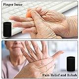 Civaner 12 Finger Sleeves, Black Breathable Elastic