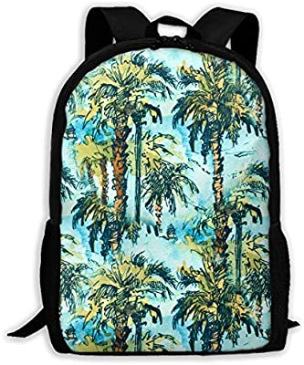 608de0bf1f26 Amazon.com : TAOHJS106 Palm Trees Pattern Waterproof Adult Backpack ...