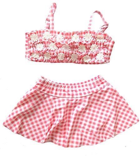 (little dragon pig Two Piece Swimsuits for Girls Flower Bikini Dress Beach Wear Summer Suit 6-7Years)