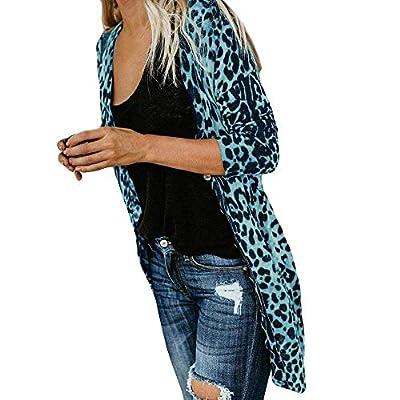 COPPEN Women Bllouse Long Sleeve Leopard Print Fashion Coat T-Shirt Tank Tops