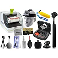 TomTom Bandit 4K HD 16MP Action Camera with 32GB Ultra Memory + Premium Case + Selfie Stick + Head Strap + Floaty Handgrip + MicroSD Card Reader + Cleaning Kit + More